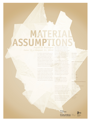 Material Assumptions Cover